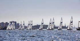 The Paralympic Sonar fleet raced only one of two races yesterday