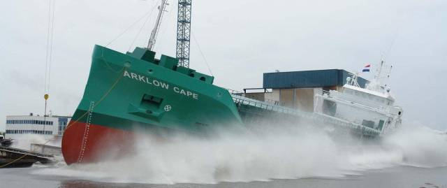 The second sister built, Arklow Cape which likewise of Arklow Clan was launched without christening ceremony, but this will happen at a later stage.