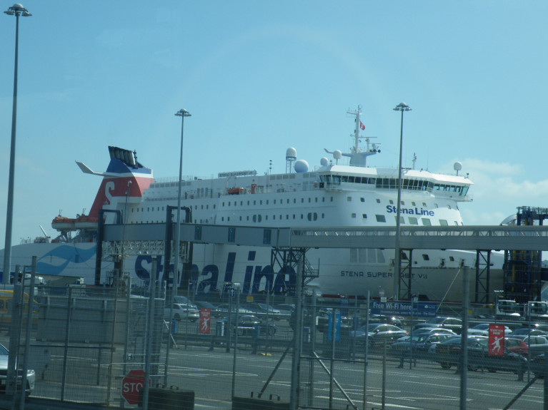 Stena announced it was to furlough 600 employees and make 150 redundant in the UK and Ireland. Above AFLOAT adds is Belfast Harbour's VT4 (Stena Line) terminal used only for their Scottish service to Cairnryan operate by sisters Stena Superfast VII (above) VIII.