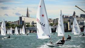 Laser sailing in Dun Laoghaire harbour. DBSC members will salute Olympic silver medal winner Annalise Murphy at her civic homecoming reception in Dun Laoghaire on Thursday. The club's end of season race has been moved to Wednesday evening.