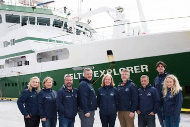 The GO-SHIP team in Galway getting ready for their expedition on the RV Celtic Explorer