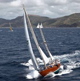 The handsome McGruer ketch Cuilaun – whose CV includes a Transatlantic Race Class Win – is headed for the Glandore Classic Regatta 2017 from July 23rd to July 28th