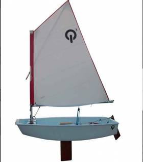 The new polyethylene Sailqube Optimist dinghy has arrived at Ballyholme Yacht Club
