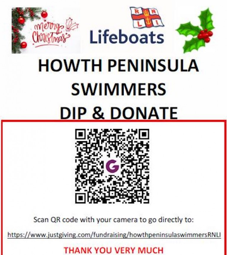 "The Howth RNLI ""DIP & DONATE"" poster"