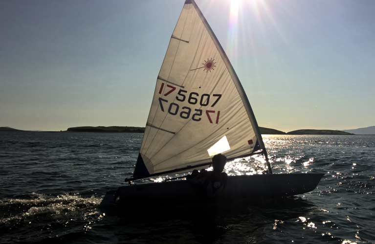 Laser sailing at Mayo Sailing Club