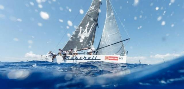 The HYC team swapped their usual Corby 27 for the Mark Mills design DK46 Maserati Hydra in the Mediterranean's oldest offshore race