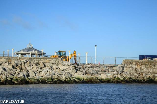 Repair Work Shows Extent of Storm Damage to Dun Laoghaire's East Pier