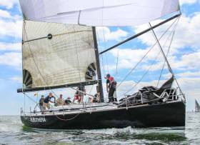 Wicklow Winner – The Greystones Harbour based Eleuthera will face stiff Dublin competition on home waters in this Sunday's Taste of Greystones Regatta. Frank Whelan's Grand Soleil 44, that was a Cork Week and Calves Week winner this Summer, will take in Saturday's ISORA Dublin Bay to Greystones race too