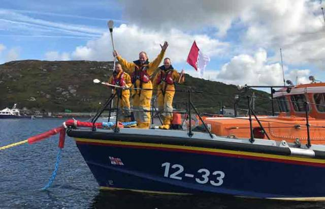Clifden RNLI lifeboat crew wishing Galway well for Sunday's senior All-Ireland hurling final