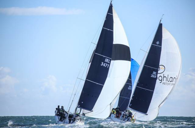 Racing to the Kish had extra significance today for a 38-boat fleet on Dublin Bay