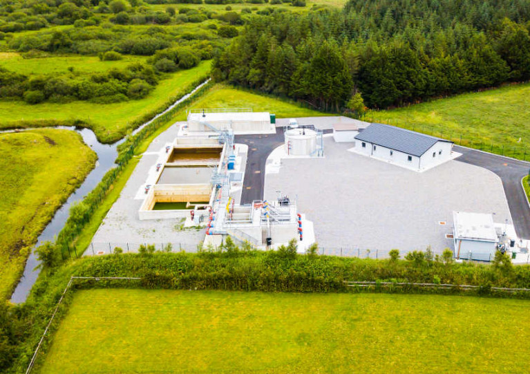 New treatment plant at Tubbercurry, Co Sligo, one of the 19 large urban areas that failed to meet EU treatment standards in 2019