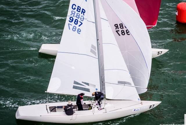 Richard and Samantha Burrows from Howth Yacht Club are racing at the Etchells Worlds