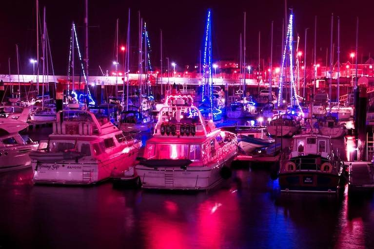 Bangor Marina's Christmas Lights show last year