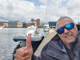 Sergio Davi at Belfast Harbour Marina last week