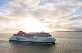 W.B. Yeats made its maiden sailing this morning having departed Dublin for Holyhead. The cruiseferry is seen sailing from the Welsh port to Dublin (Bay as above), though during its delivery voyage to Ireland last month.