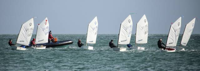 Optimist training in Dun Laoghaire Harbour this month