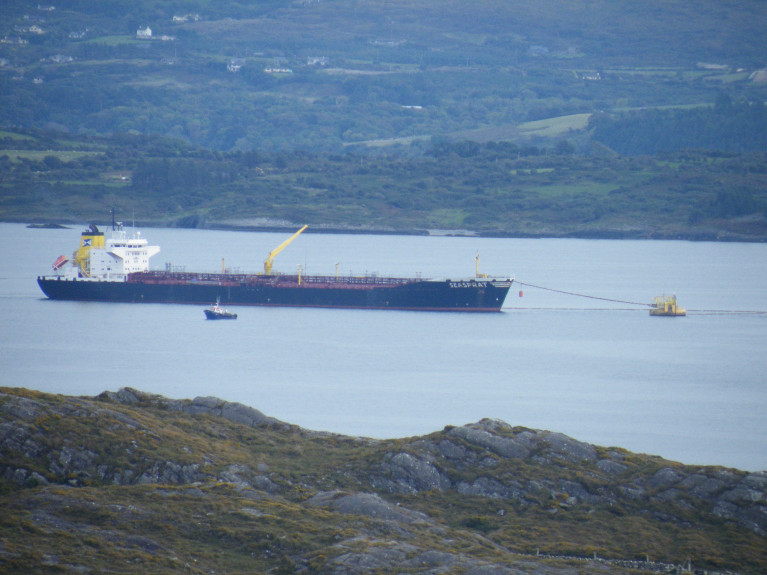 Bantry Bay Port total traffic was up 81% to 1.3m tonnes in 2020, compared with 2019. Above AFLOAT's photo of tanker, Seasprat at the Single Point Mooring system where during operations at the SPM, only such vessels engaged by the Oil Storage Facility on Whiddy Island to assist in the operation or authorised by the Harbour Master, are permitted to enter an Exclusion Zone.