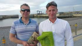 Stephen Oram left and Noel Butler were winners at the Greystones Sailing Club Fireball Open event