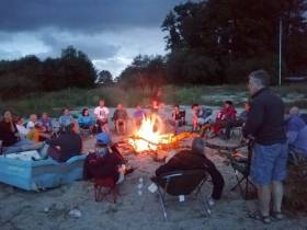 An RS400 campfire at Blessington Reservoir