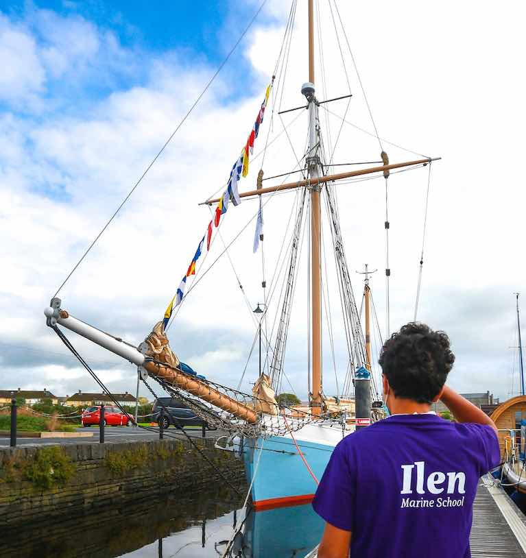 Trading ship, sailing ship, school ship – the Ilen goes about her business in Kilrush, County Clare