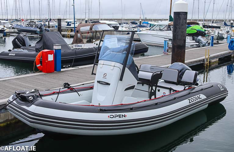 MGM Boats Deliver Zodiac Open 5.5 RIB to Dun Laoghaire Marina Customer