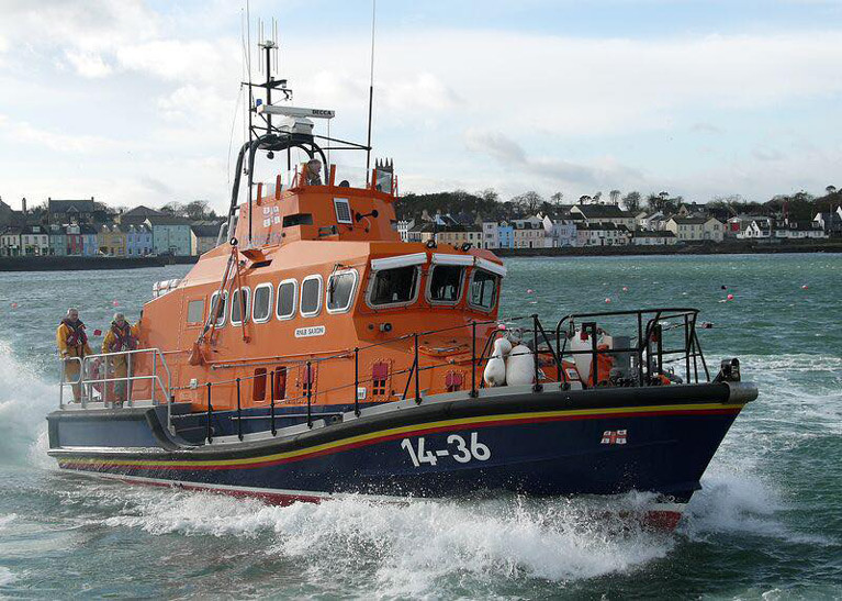 Donaghadee Lifeboat Launches to Jet Skier at Millisle, Co. Down