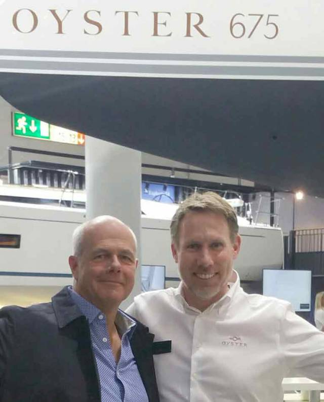 Ian O'Meara (left) with Paul Adamson of Oyster Yachts