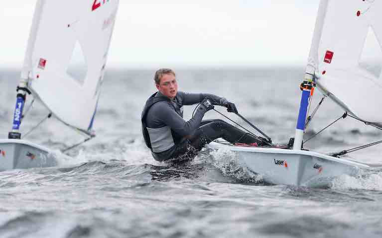 Howth teenager Eve McMahon is in 24th place at the Laser Europeans