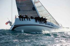 Daniel Hardy's Ker 46 Lady Mariposa is the fastest yacht rated under the IRC rating system for RORC's De Guingand Bowl Race