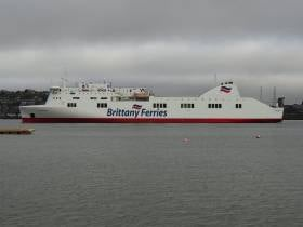 Brittany Ferries chartered-in ropax Connemara in Cork Harbour during its first season last year. Today's sailing on the Cork-Santander route has been cancelled due to technical problem which has also affected the following sailing for northern Spain scheduled for next Monday, 16th September