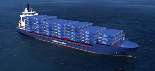 Afloat has identified the names to be given of the new quartet of 'Ireland' Max 1,003 TEU capacity containerships currently under construction in China. BG Emerald is among the ships to be delivered in 2018