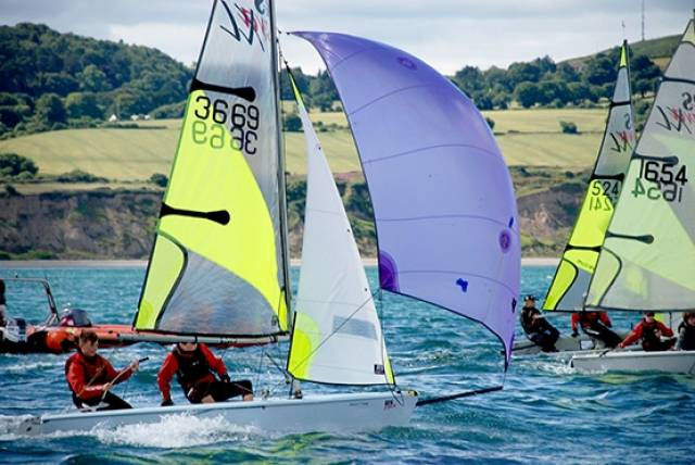 RS Feva racing at Greystones Sailing Club this week attracted a fleet of 38–boats, a big improvement on 2015