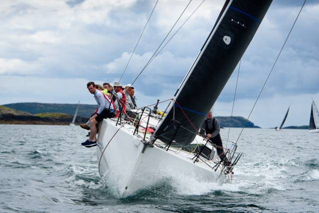 Paul O'Higgins' Dublin Bay based Rockabill, a JPK 10.80, competes in the first race of Calves Week. Scroll down for photo gallery