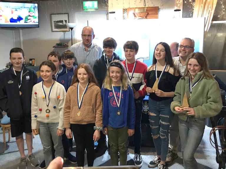 Junior Icebreaker winners at Balyholme Yacht Club