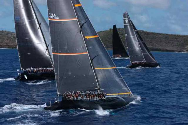 The Maxi 72 Proteus – with Gordon Maguire aboard, she was leading IRC Corrected in the RORC Caribbean 600 when she had to retire with damage after nine hours of racing