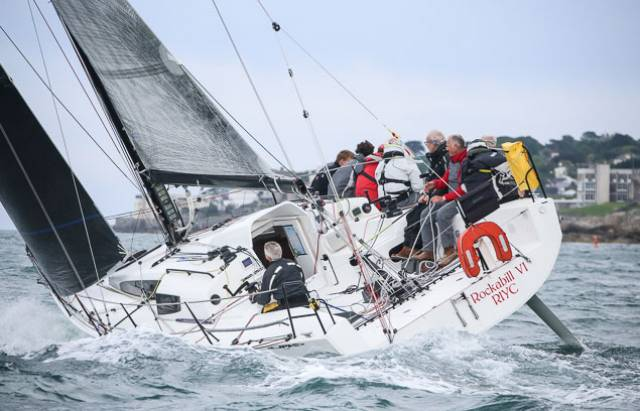 Paul O'Higgins JPK 10.80 Rockabill VI (RIYC) has taken the lead on the water and IRC