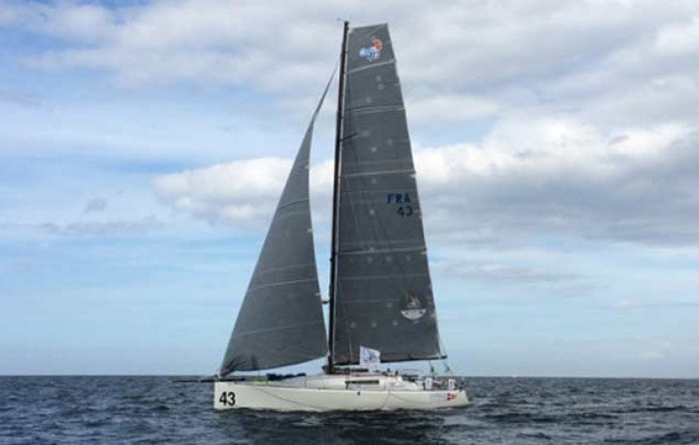 Antoine Magre's Palanad 3 from La Trinite sur Mer is the 43rd Round Ireland entry