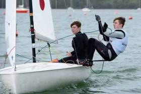 James McCann and Harry Whitaker sailing a 420 dinghy win €700 as a first prize.  See full photo gallery below