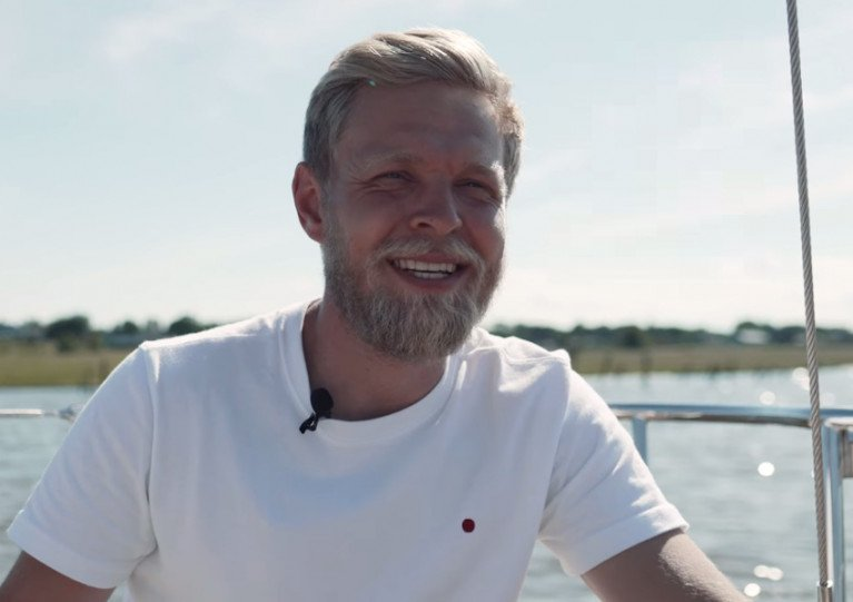 Kevin Magnussen (also below) extols the virtues of X-Yachts