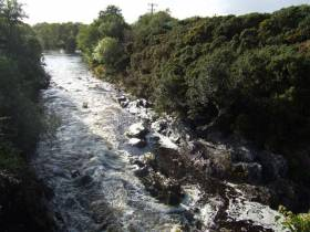 The Roughty River flowing west towards Kilgarvan