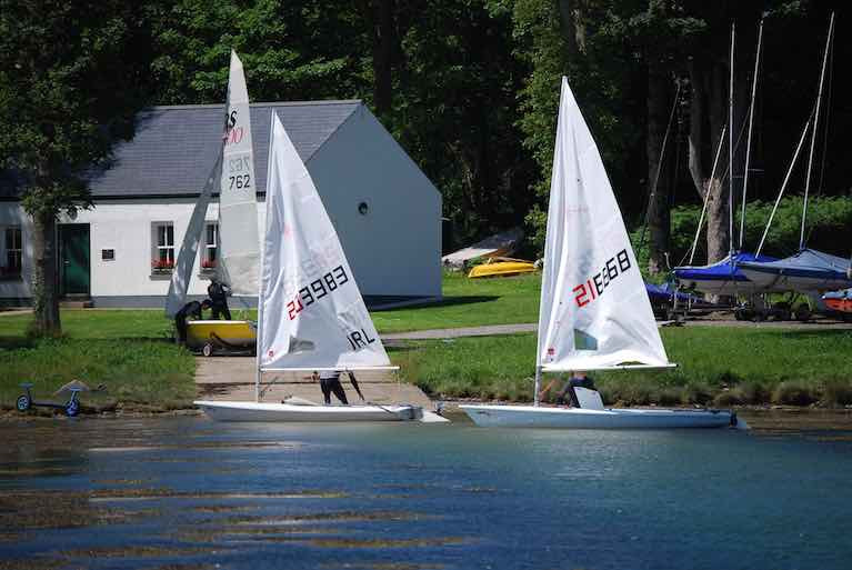 Laser dinghies at Strangford Sailing Club