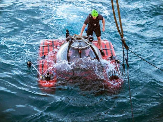 Putting one of the Nekton First Descent mission's Triton subs to the test off the Seychelles