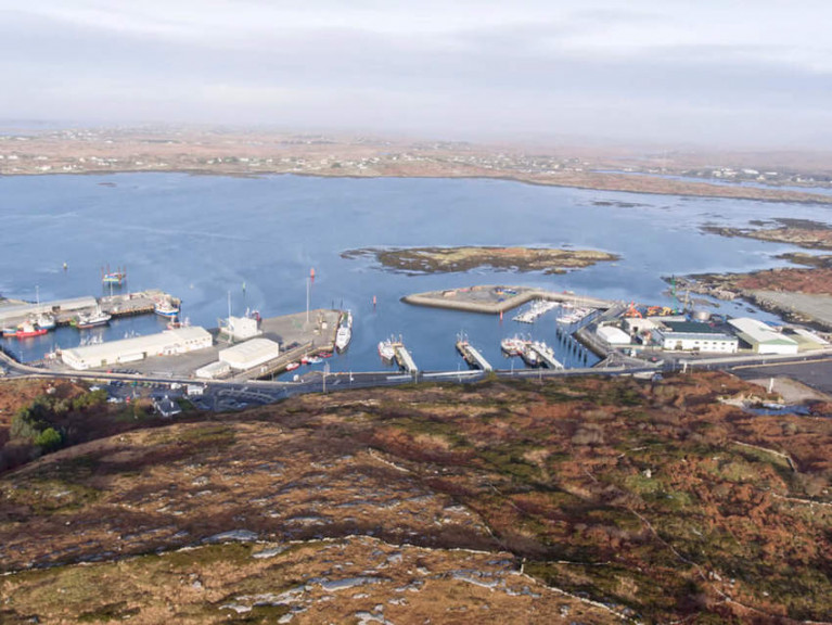 Ros an Mhíl harbour in the Connemara Gaeltacht