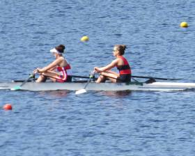 The new Ireland lightweight double of Denise Walsh (Skibbereen) and Margaret Cremen (Lee) proving themselves at the Ireland trial.