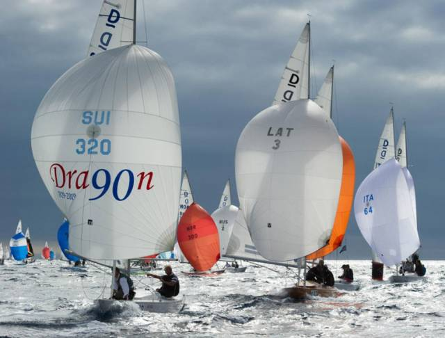 Dragon 90th Anniversary Regatta racing in Sanremo