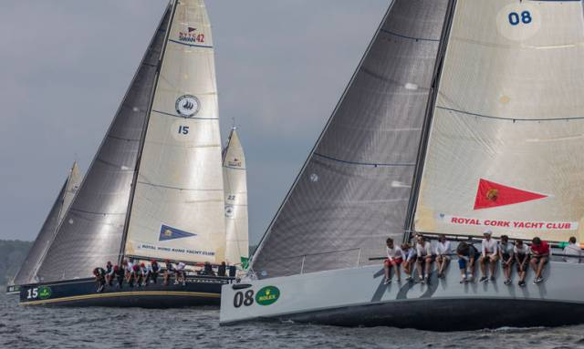 Royal Cork Yacht Club's Anthony O'Leary racing in New York yesterday