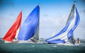 Breezy sailing for J109s at last year's DBSC Turkey Shoot Series on Dublin Bay