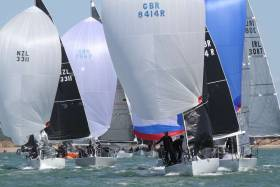 The fleet competing at the 2018 Quarter Ton Cup