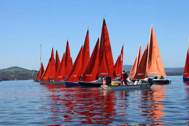 A Squib start on Lough Derg