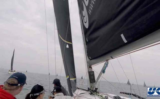 When you are maneuvering during the pre-start make sure your inhaulers are fully off. Inhaulers are a great tool for improved trim, but only when sailing fully upwind. Read down for more tips on headsail trim